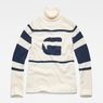 G-Star RAW® Cyeil Turtle Knit White flat front