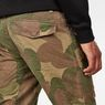 G-Star RAW® Rovic Sec 3D Straight Tapered Pants Beige model back zoom