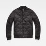 G-Star RAW® Liner Meefic Padded Bomber Jacket Black flat front