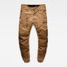 G-Star RAW® Powel 3D Tapered Cuffed Pants Brown flat front