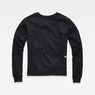 G-Star RAW® Raw Correct Triffey Cropped Sweater Schwarz flat back