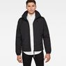 G-Star RAW® Attacc Quilted Hooded Jacket Black model front