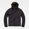 G-Star RAW® Attacc Quilted Hooded Jacket Black flat front