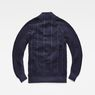 G-Star RAW® Suzaki  Moto Zip Through Knit Dark blue flat back