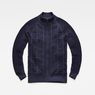 G-Star RAW® Suzaki  Moto Zip Through Knit Dark blue flat front