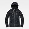 G-Star RAW® Aerva Slim Hooded Zip Thru Sweat Schwarz flat front