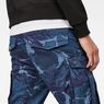 G-Star RAW® Rovic 3D Straight Tapered Pants Dark blue model back zoom
