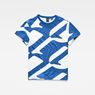 G-Star RAW® Hyce Regular Pattern T-Shirt Medium blue flat front