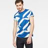 G-Star RAW® Hyce Regular Pattern T-Shirt Medium blue model front