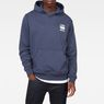 G-Star RAW® Doax Hooded Sweater Dark blue model front