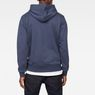 G-Star RAW® Doax Hooded Sweater Dark blue model back