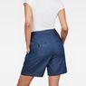 G-Star RAW® Bristum Pleated High waist Bermuda Shorts Dark blue model back
