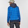 G-Star RAW® Core Hooded Window Check Sweat Bleu moyen model back