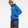 G-Star RAW® Core Hooded Window Check Sweat Bleu moyen model side