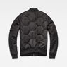 G-Star RAW® Deline Quilted Boyfriend Bomber Black flat back