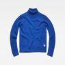 G-Star RAW® Core Turtle Knit Medium blue flat front