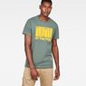 G-Star RAW® Graphic 8 Regular T-shirt Groen model front