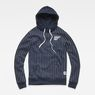 G-Star RAW® Core Hooded Pinstripe 1  Sweat Donkerblauw flat front