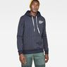 G-Star RAW® Core Hooded Pinstripe 1  Sweat Donkerblauw model front