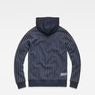 G-Star RAW® Core Hooded Pinstripe 1  Sweat Donkerblauw flat back