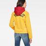 G-Star RAW® Lynaz Hooded Sweat Yellow model back