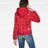G-Star RAW® Lynaz Hooded Window Check Sweat model back