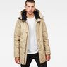 G-Star RAW® Whistler Strett Sherpa Hooded Parka Brown model front