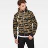 G-Star RAW® Manes Raglan Camo Hooded Zip Sweat Multi color model front