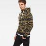 G-Star RAW® Manes Raglan Camo Hooded Zip Sweat Multi color model side