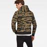 G-Star RAW® Manes Raglan Camo Hooded Zip Sweat Multi color model back