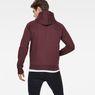 G-Star RAW® Manes Raglan Hooded Zip Sweat Purple model back