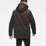 G-Star RAW® Vodan Teddy Padded Hooded Jacket Grey model back