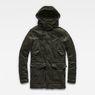 G-Star RAW® Vodan Teddy Padded Hooded Jacket Grey flat front