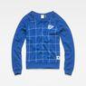 G-Star RAW® Graphic 4 Xula Window Check T-Shirt ミディアムブルー flat front