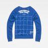 G-Star RAW® Graphic 4 Xula Window Check T-Shirt ミディアムブルー flat back