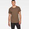 G-Star RAW® Starkon Stripe T-Shirt Brown model front