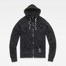 G-Star RAW® Manes Raglan Hooded Zip Sweat Black flat front
