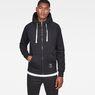 G-Star RAW® Manes Raglan Hooded Zip Sweat Black model front
