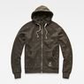 G-Star RAW® Manes Raglan Hooded Zip Sweat flat front