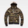 G-Star RAW® Manes Raglan Camo Hooded Zip Sweat Multi color flat front