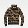G-Star RAW® Manes Raglan Camo Hooded Zip Sweat Multi color flat back