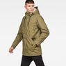 G-Star RAW® Vodan Padded Hooded Teddy Parka Green model side