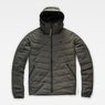 G-Star RAW® Attacc Quilted Hooded Jacket Grey flat front