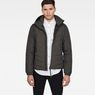 G-Star RAW® Attacc Quilted Hooded Jacket Grey model front