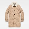 G-Star RAW® Garber Canvas Teddy Overcoat Brown flat front