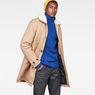 G-Star RAW® Garber Canvas Teddy Overcoat Brown model front