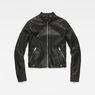 G-Star RAW® Chopper Slim Biker Jacket Black flat front