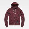 G-Star RAW® Manes Raglan Hooded Zip Sweat Purple flat front
