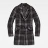 G-Star RAW® Minor SB Wool Check Coat Grey flat front