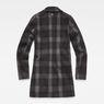 G-Star RAW® Minor SB Wool Check Coat Grey flat back